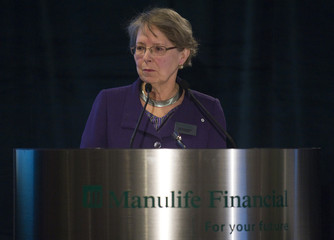 Manulife Financial Chair Gail Cook-Bennett at their Annual Meeting of Shareholders in Toronto.
