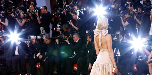 Actress Paltrow arrives during a red carpet during the 68th Venice Film Festival