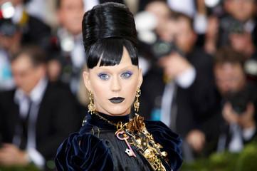 Singer-songwriter Katy Perry arrives at the Met Gala in New York