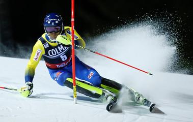 Alpine Skiing - FIS Alpine Skiing World Cup - Men's Slalom race 1st run