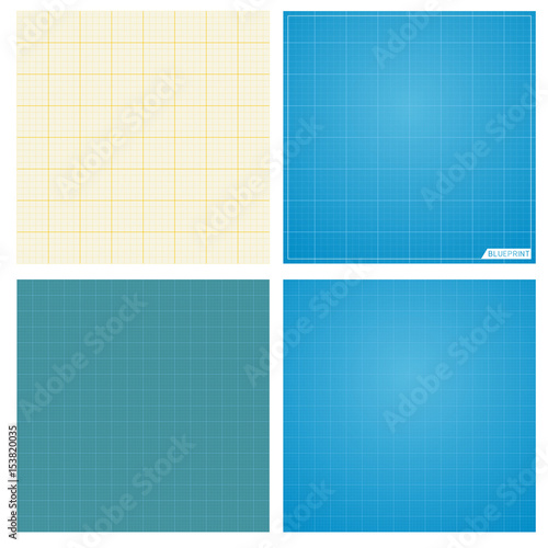 Set of seamless blueprint background stock image and royalty free set of seamless blueprint background malvernweather Choice Image