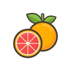 cartoon grapefruit