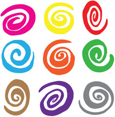Hand Drawn Abstract Swirl Vectors