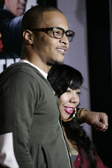 """Rapper T.I and wife Tameka """"Tiny"""" Cottle arrive at Warner Bros. Pictures' """"Gangster Squad"""" premiere at Grauman's Chinese Theatre in Hollywood, California"""