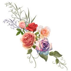 illustration of flower on color background