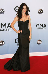 Joy Williams poses on arrival at the 47th Country Music Association Awards in Nashville