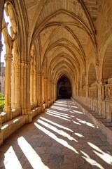 Cloister of Santes Creus in Tarragona province, Catalonia, Spain
