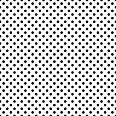 Seamless polka dot pattern. Black dots on white background. Vector illustration.