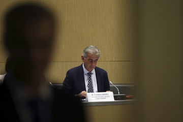 Frederic Gagey, Chairman and CEO of Air France, attends a hearing at the French National Assembly in Paris