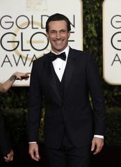 Jon Hamm arrives at the 73rd Golden Globe Awards in Beverly Hills