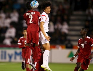 Football Soccer - Qatar U23 v South Korea U23 - AFC U23- Championship Semi Final – Doha,Qatar