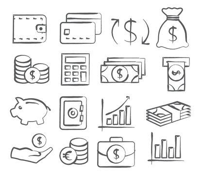 Money Doddle Icons
