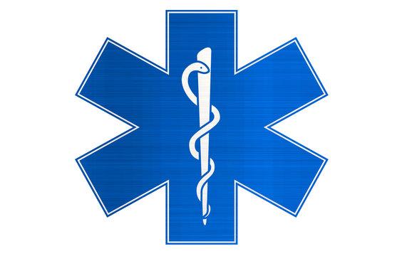 medical snake blue sign