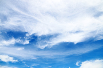 Clouds and blue skies In the summer holiday
