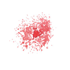 Hand drawn watercolor paint red splatter isolated on the white background. Vector.
