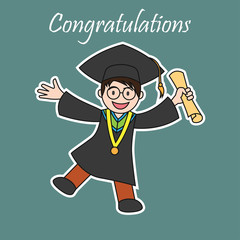 graduation events / happiness of graduation concept, vector illustration