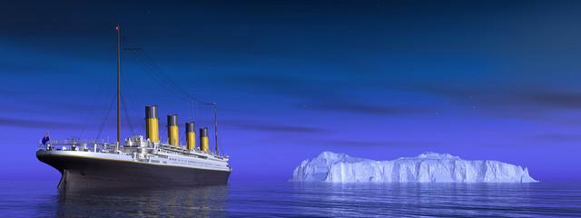 Titanic und Eisberg