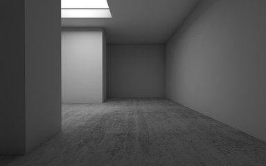 Empty room interior background, 3d illustration