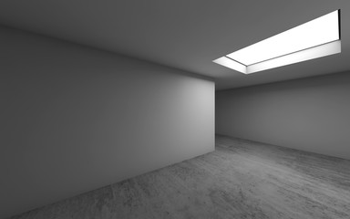 Empty room interior background with ceiling light