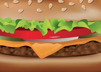 hamburger - gros plan - fast food - sandwich -restauration - restauration rapide