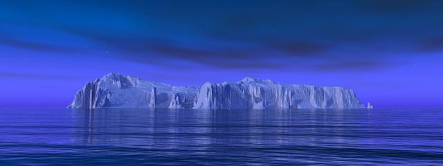 Eisberg in der Nacht