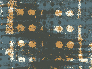 Abstract grunge vector background. Color composition of handmade irregular overlapping graphic elements.