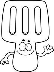 Cartoon Spatula Waving
