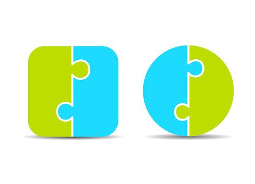 Two part puzzle diagram templates