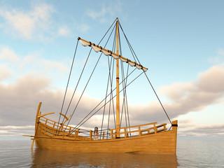 Antikes griechisches Handelsschiff