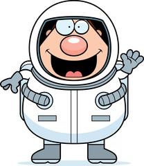 Cartoon Astronaut Waving