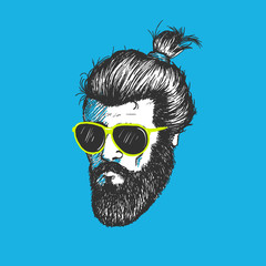Head of modern hipster