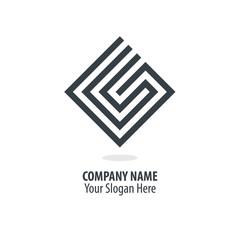 Initial Letter CS GS G Maze Concept Design Logo