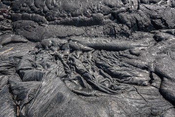 Magma in Lava field on Big Island Hawaii