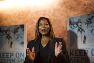 "Actress Latifah attends the premiere of the documentary ""Keep on Keepin' On"" at The Landmark theatre in Los Angeles"