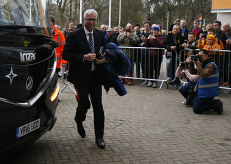Crystal Palace manager Alan Pardew arrives at the Kingston Communications Stadium
