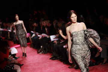 Models present creations during the Jason Wu Fall 2010 fashion show during New York Fashion Week