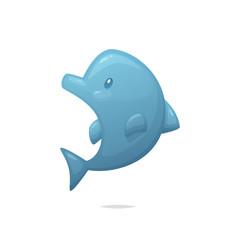 Cartoon dolphin vector illustration