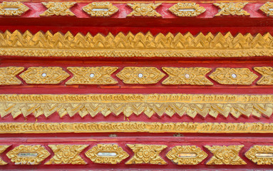 Close up detail of thai temple