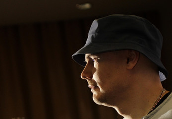 Billy Corgan, lead singer of The Smashing Pumpkins, attends a news conference in Mexico City
