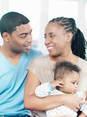 Parents with baby boy, portrait