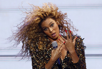 File photo of Beyonce performs on the last day of the Glastonbury Festival in Somerset