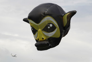 A monkey balloon is seen during the 16th Solar Balloon Festival in Envigado, Colombia