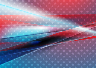 USA colors abstract bright vector background