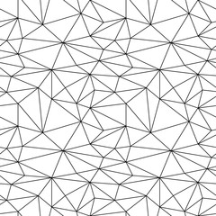 Geometric monochrome background. Black and white seamless pattern. Vector illustration