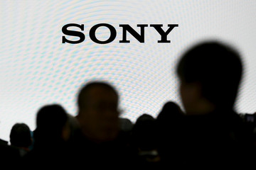 The company logo of Sony Cooperation is seen at the CP+ camera and photo trade fair in Yokohama