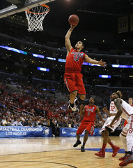 Arizona Wildcats' Johnson dunks against the Ohio State Buckeyes in the first half of their West Regional NCAA men's basketball game in Los Angeles