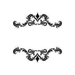 vignette decorative crest ornate flourish vector illustration