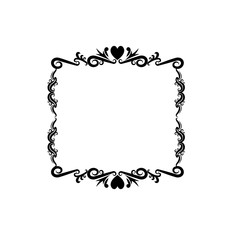 decorative frame floral romantic border cute image vector illustration