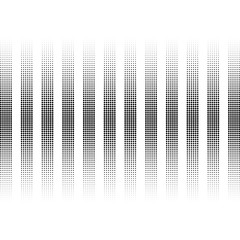 vertical lines circles. abstract stripes of the balls. white background. halftone effect. vector illustration.