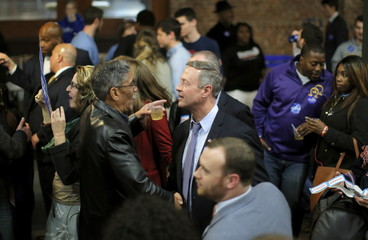 O'Malley shakes hands with voters during Jim Clyburn's Annual Fish Fry in Charleston